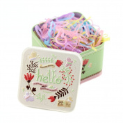 1 Box (700PCS) Disposable Hair Ponytail Holders Elastic Hair Bands Hair Tie Rubber Bands with Cute Tin Box for Baby Kids Girls