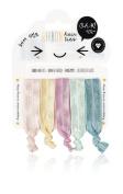 Oh K! Hair Ribbon Ties Hair Bands - Pack of 5 Ribbon Wide Hair Ties