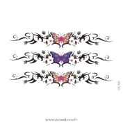 Avastore Temporary Tattoo BUTTERFLY AND FLOWERS Tattoo Ephémère BUTTERFLY AND FLOWERS