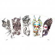 5 Sheets Temporary Waterproof Flower Arm Tattoo Sticker Body Art Beauty Mermaid Decal Bar