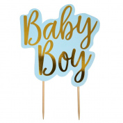 Neviti Pattern Works - Cake Topper - Baby Boy, Blue
