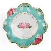 Neviti Eternal Rose - Plates, Turquoise, Pack of 8