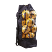 GOGO Extra Large Soccer Ball Mesh Bag Heavy Duty Adjustable Shoulder Strap Beach And Swimming Gears