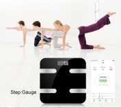 Kingta Bluetooth Smart Body Fat Scale Monitor Body Fat,Scale Body Fat,Total Body Water,Muscle Mass and Bone Mass for Your Family