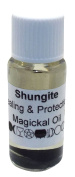 Shungite Gemstone Infused Magickal Incense Oil