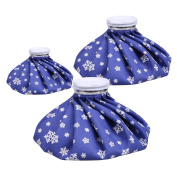 Cammate Ice Bag, 3 Pack[15cm , 23cm & 28cm ] Hot And Cold Reusable Ice Bag,Relief Heat Pack Sports Injury Reusable First Aid for Knee Head Leg