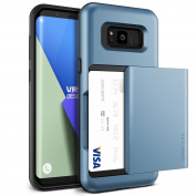 """Galaxy S8 Plus Case, [Coral Blue] """"Made in Korea"""" Shockproof Sliding Wallet Cover with 2 Card Slot [Damda Glide] Military Grade Protection Premium TPU Layered Phone Case by VRS Design® for Samsung Galaxy S8 Plus"""