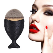 Saingace Fish Scale Makeup Brush Fishtail Bottom Brush Powder Blush Makeup Cosmetic Brushes Tool