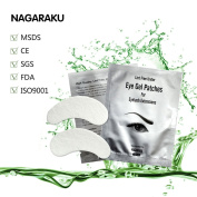 NAGARAKU,50 pairs set,Under eye pads, Lint Free Eye Gel patches, Eye patches for eyelash extension