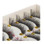 Eyelashes Longra® 10 Pairs Practical Fashion Cross False Eyelashes Lashes ! ! Hand Made , Beautiful