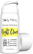 Body Merry Breakthrough Night Cream- Anti Ageing Night Cream Moisturiser w 5% Niacinamide + Best Natural & Organic Ingredients Hyaluronic Acid + Ocean Minerals + Seaweed to Fight Wrinkles, Lines, Acne & Spots...