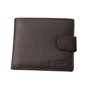 Gemini_mall® Mens Genuine Soft Leather Wallet with Coin Pocket / Pouch ID Credit Card Holder
