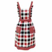 KESEE Lady Restaurant Home Kitchen For Pocket Cooking Cotton Apron Bib