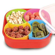 WuKong Creative Multi Sectional Snack Storage Box Set with Lid, Dried Fruits, Nuts, Candies Fruits