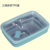 Reusable Food Container/ Food Storage Boxes, Stainless Steel Seal Grabs The Lunch Box Containers Dinner Plate, Size 25.5X19.5X5Cm,A-3 Blue
