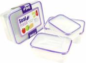 CrazyGadget® Seal Fresh Airtight Food Storage Tubs - Set of 4