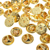 120 Pieces Metal Brass Butterfly Clutch Pin Backs Replacement Badge Insignia Pin Backs