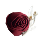 KUPARK 6 Pack Corsages Ribbon Rose Boutonniere Groom Brooch Clip Pin Wedding