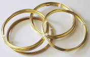 Brass Square Wire( Dead Soft) 4 Assorted Gauges 14-16-18-20 / 1.5m Each
