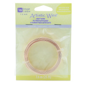 Artistic Wire 16 Gauge, Silver Plated, Rose Gold Colour, 7.6m Wrapping