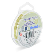 Artistic Wire AWB-14BS-BYB-A 14 Gauge , Braid, Square, Bare Yellow Brass, 0.2sqm Braid,Bare Yellow Brass
