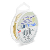 Artistic Wire AWB-14BS-BB-A 14 Gauge, Braid, Square, Tarnish Resistant Brass, 0.2sqm Braid,Bare Brass