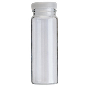 6 PCS 10 Dram 1.2oz 40ml Clear Glass Wide Opening Display Vial with Tight Fit Plastic Stopper