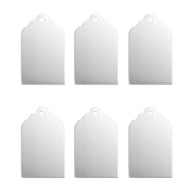 Impressart Aluminium 2.2cm x 1.3cm Tag Stamping Blanks, You Get SIX (6) Tags. Lead, Nickel and Cadmium Free, Made in USA
