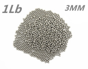 Lieomo 0.5kg 3MM Stainless Steel Tumbling Media Shot Jeweller Circular Tumbler Finishing