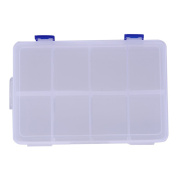 TTnight Storage Box, 8 Compartment Plastic Adjustable Storage Box Tool Container Organiser for Small Accessories