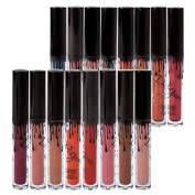Petansy 16 Colours Makeup Liquid Lipstick Long Lasting Waterproof Lip Gloss Set