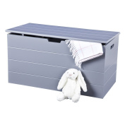 Ottoman Storage Chest Grey, Scandinavian Inspired, with Soft Close Hinges for Safety and Simple Clean Lines. Seaton Range by Elegant Brands