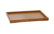 TEA SOUL 28 x 19 cm Small Bamboo Serving Tray, Beige