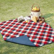 Jackson Waterproof Picnic Blanket Navy/Red 130cm x 150cm