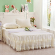 YFFS Cotton Lace Bed Skirt Single Bedspread Cover Bed Cover Bed Linen,1-150*200cm