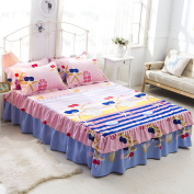 YFFS Cotton Lace Flower Bedspread Bed Skirt Cotton Bed Cover Single Bed Cover Sheet,J-180*200cm