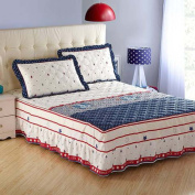 YFFS Cotton Thicker Cotton One Piece Skirt Quilted Bed Sheets,180*220cm
