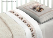 Bedding Set for Cot Bed in 100% Cotton Design 4 O.B Lettino Disegno 4