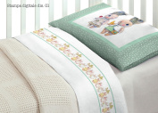 Bedding Set for Cot Bed in 100% Cotton Design 1 O.B Lettino Disegno 1