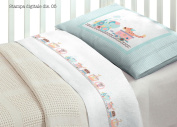 Bedding Set for Cot Bed in 100% Cotton Design 5 O.B Lettino Disegno 5