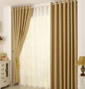 "FLORATA 2 Pieces Room Darkening Thermal Insulated Blackout Grommet Window Curtain Panel Divider Drape Treatment For Living Room Home Multicolors(L*W 250cm/98.4""*100cm/39.4"")Beige"