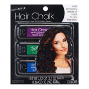 Horizon Group Next Style 3pk Hair Chalk Pink Prurple Blue