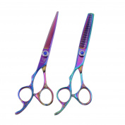 Golden Bird Left - Hand Professional Razor Edge Series - Barber Hair Cutting and Thinning/Texturizing Scissors/Shears Set - 15cm