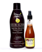 Nzuri Elixir Hair Skin & Nail Vitamin For Dry, Dull, Lifeless,Thinning, Breaking and Damaged Hair - 950ml + Nzuri Hair Fertiliser Nourishing, Vitamin Infused Growth Spritzer 240ml Combo Pack