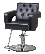 ShengYu Black Hydraulic Barber Cape Chair Styling Salon Work Station Chair …