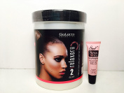 Salerm Professional Cream Relaxer (Strong) 2 Step 1000ML/33.2 oz -Free Starry Lip Plumping Gloss 10 ml