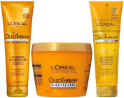 Hair Expertise by L'Oreal Paris OleoTherapy Oil Infused Shampoo and Conditioner Plus Deep Recovery Mask, 250ml Each
