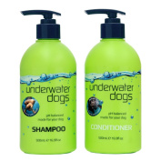 Underwater Dogs Shampoo & Conditioner - Clean, Soft & Fresh Smelling Dog Wash! Soap-Free, pH Balanced Shampoo & Moisturising Conditioner - Vanilla-Coconut - Eliminates Pet Odour & Relieves Itchy Skin