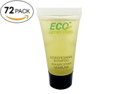 ECO AMENITIES Transparent Tube Screw Cap Individually Wrapped 22ml Shampoo & Conditioner 2 in 1, 72 Tubes per Case