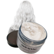 VOLLUCK White Hair Wax Pomades 130ml - Disposable Natural Hair Styling Clays Ash, Easy Cleansing